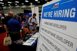 A jobs fair in texas